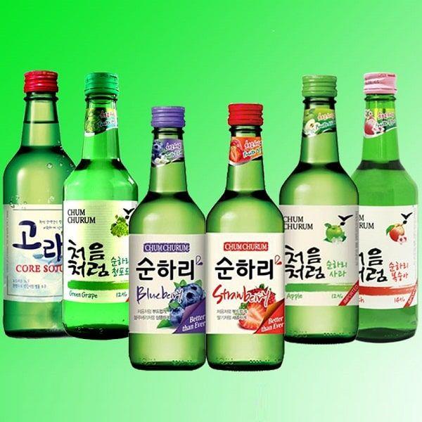 Combo 6 chai Soju hoa quả