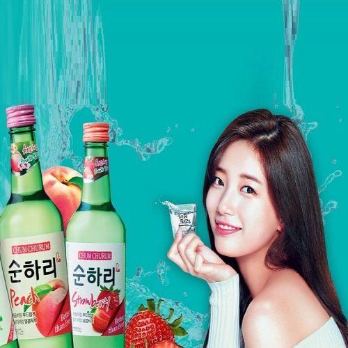 Rượu soju hương đào thơm ngon
