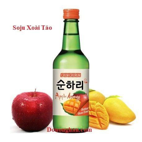 Rượu soju xoài táo