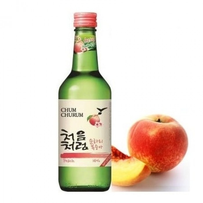 Rượu soju đào chumchurum
