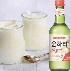 Rượu soju sữa chua hương vị mới