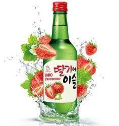 Rượu jinro soju dâu tây