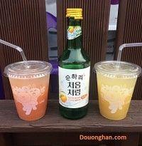 Soju chanh hương vị thơm mát
